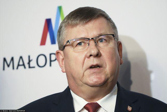 Marszałek województwa małopolskiego Witold Kozłowski. Kontrola CBA. Chodzi o zakup drogiego auta
