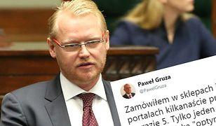 Paweł Gruza opisał na Twitterze swoje doświadczenia z kupowaniem w internecie