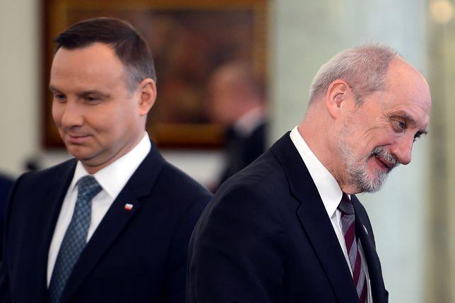 Prezydent Andrzej Duda i minister obrony narodowej Antoni Macierewicz.