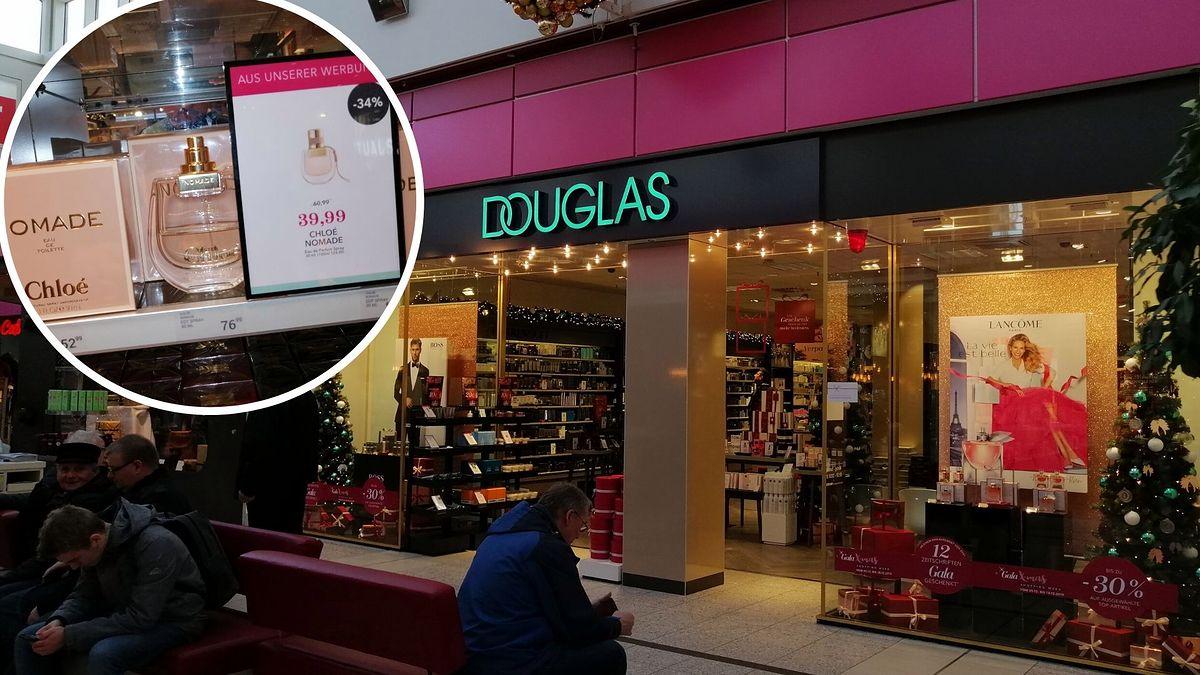 Niemieckie perfumerie Douglas są tańsze od tych polskich. Różnica to często ponad 100 zł