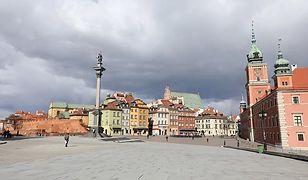 Warszawa. Mogą wystąpić burze i ulewy.