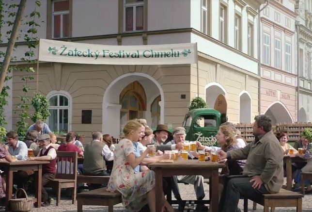Reklama czeskiego piwa, które jest produkowane w Polsce