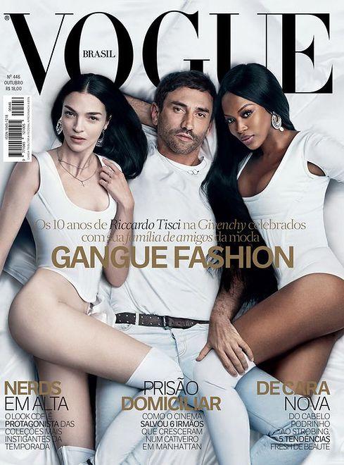 Riccardo Tisci, Mariacarla Boscono i Naomi Campbell w Vogue Brasil