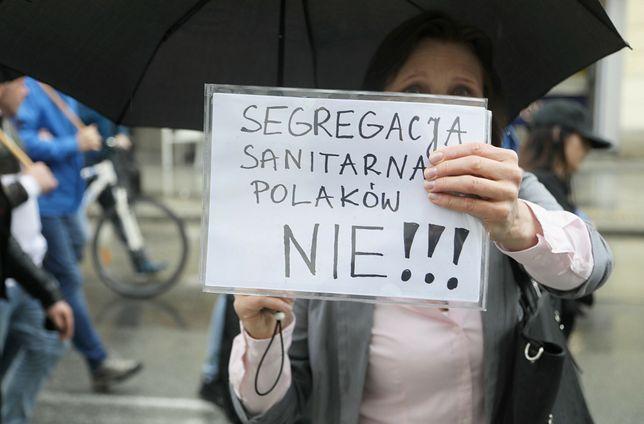 Protest przeciwników szczepień