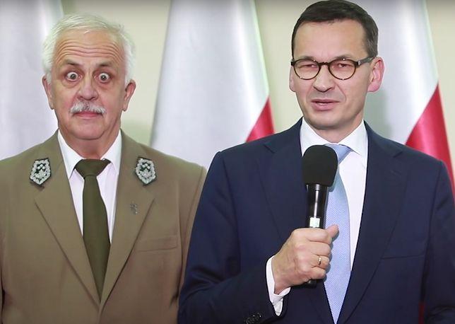 Na zdjęciu z premierem dyrektor Biebrzańskiego Parku Narodowego Andrzej Grygoluk
