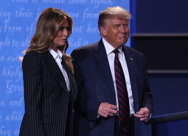 Melania Trump towarzyszyła mężowi