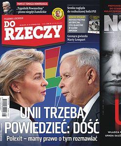 """Okładki tygodników. Polexit to nie tylko straszenie? """"Newsweek"""" o władzy PiS: """"Upadek"""""""