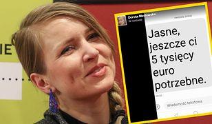 """Polsko-niemiecka nagroda dla Doroty Masłowskiej. """"Jasne, jeszcze ci 5000 euro potrzebne"""""""