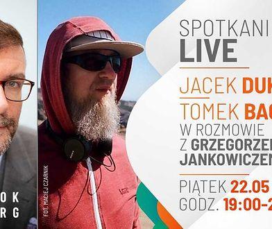 Jacek Dukaj i Tomasz Bagiński na żywo. Oglądaj w WP