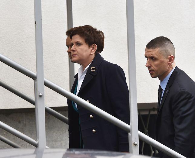 Premier Beata Szydło po przyjeździe do Prokuratury Okręgowej w Krakowie, 23 marca, gdzie została przesłuchana.