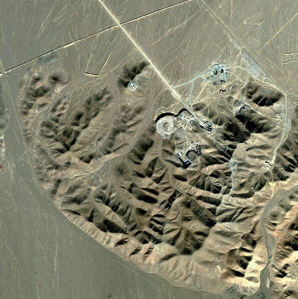 Ośrodek nuklearny w Fordo w Iranie - zdjęcie satelitarne z 2009 roku
