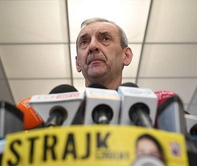 Prezes Związku Nauczycielstwa Polskiego zapowiedział pozew za okładkę, która przedstawiała go jako terrorystę