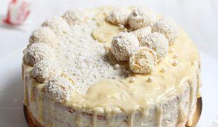 Słodki tort rafaello. Idealny na rodzinne przyjęcia lub święta