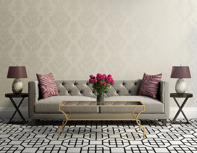 Salon w stylu glamour jest obiektem marzeń dla miłośników pałacowych wnętrz