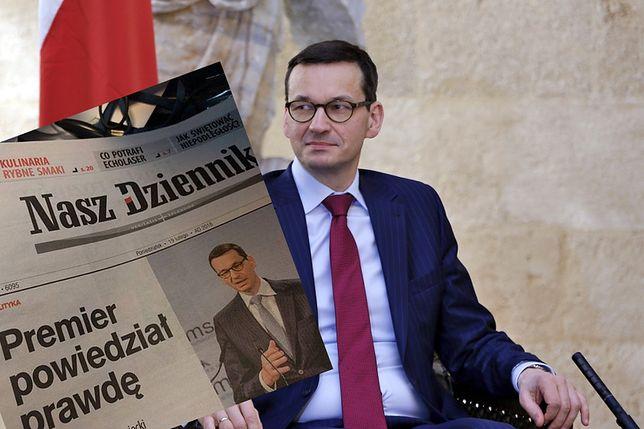 Redakcja prawicowego medium broni Morawieckiego