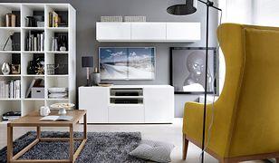 Efektowny mebel umożliwia ukrycie wszystkich sprzętów, od dekodera po telewizor.