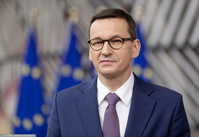 Najnowszy sondaż IBRiS dla WP. Premier Mateusz Morawiecki w Brukseli