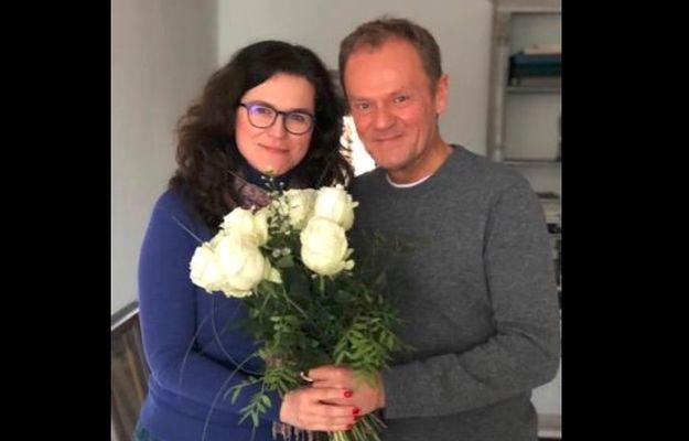 Aleksandra Dulkiewicz i Donald Tusk