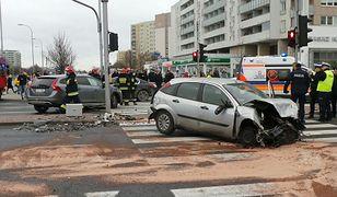 Policyjny pościg na Gocławiu. Dwie osoby trafiły do szpitala