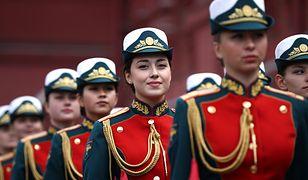 Defilada na Placu Czerwonym w Rosji