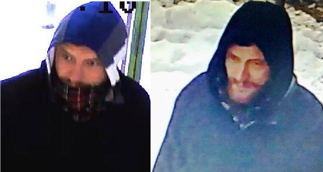 Policja opublikowała zdjęcia bandyty. Napada na sklepy w Cieszynie