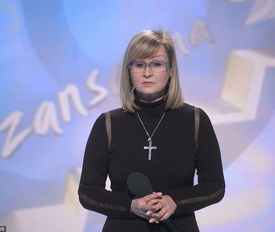 Elżbieta Skrętkowska na planie swojego programu