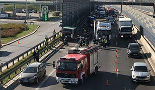 S8: wypadek na wysokości Marymontu, jedna osoba ranna.