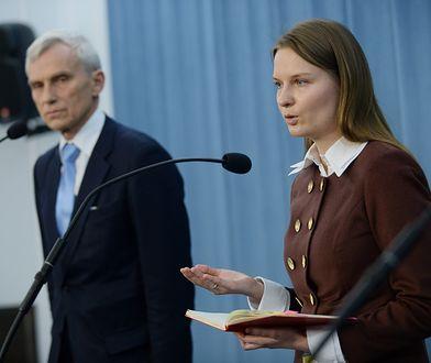 Ludmiła Kozłowska i poseł PO Marcin Święcicki w Sejmie