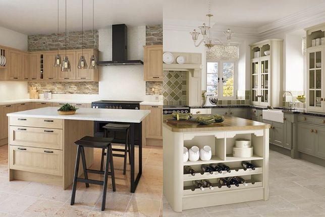 W kuchni klasycznej aranżacje bazują na drewnianych meblach i dodatkach