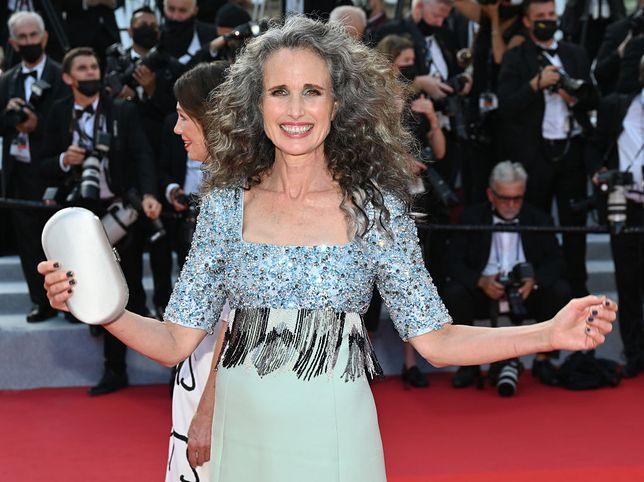Andie MacDowell na festiwalu w Cannes
