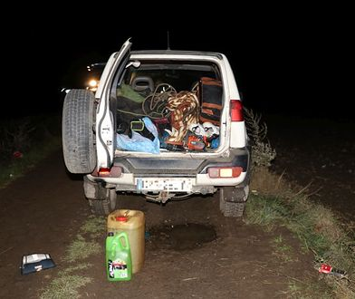 Wnętrze bagażnika samochodu zatrzymanego obywatela Czech