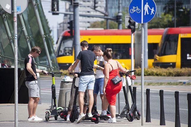 Hulajnogi stają się coraz bardziej popularne w Polsce