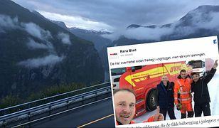 Pracownicy polskiej firmy, którzy utknęli na trasie w Norwegii nie wiedzieli kto im pomaga