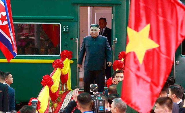 Lider Korei Północnej Kim Dzong Un.