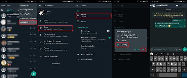Ciemny motyw WhatsAppa jest już dostępny dla testerów wersji na Androida.