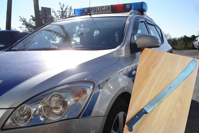 Łódź. Stał z maczetą i groził, że zabije kierowcę autobusu (Fot.: policja.gov.pl)
