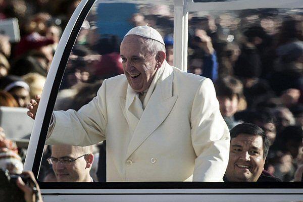 Papież Franciszek i ksiądz Fabian Baez