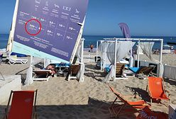 Loża na plaży jak nocleg dla 3 osób. Kolejny przejaw drożyzny nad morzem