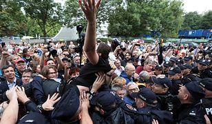 Protest przed Sejmem, interweniowała policja
