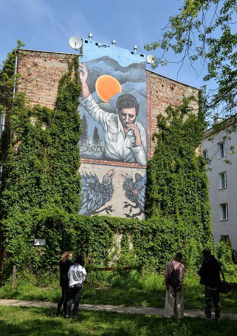 Warszawa. Stachura trafił na mur