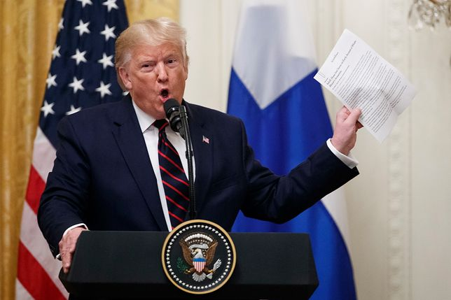 USA. Prezydent Donald Trump wpadł w szał podczas konferencji