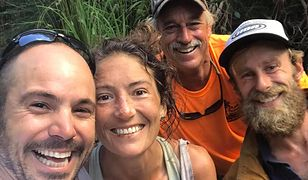 Amanda Eller tuż po odnalezieniu przez ratowników na Hawajach
