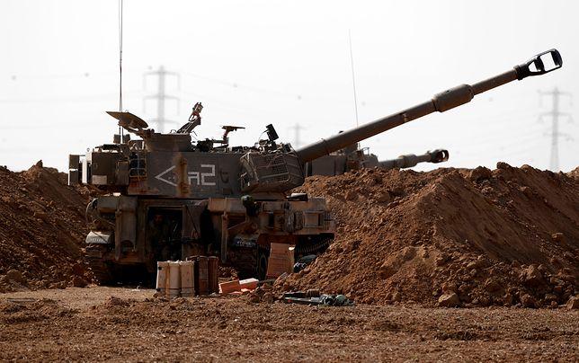Izraelska artyleria przy granicy z Gazą