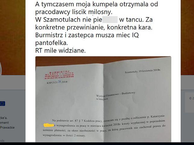 Dokument ujawniono w mediach społecznościowych