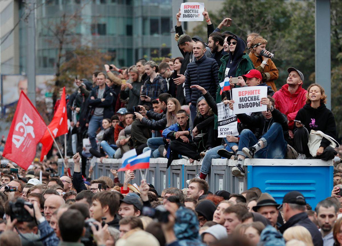 Ogromna demonstracja w Moskwie. Zatrzymano 300 osób