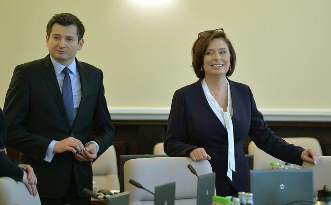 Wybory prezydenckie 2020. Igor Ostachowicz i Małgorzata Kidawa-Błońska.