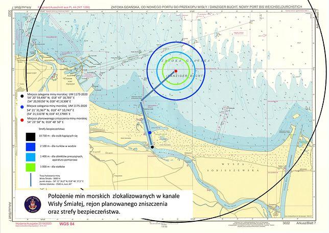 Rejon planowanego zniszczenia oraz strefy bezpieczeństwa