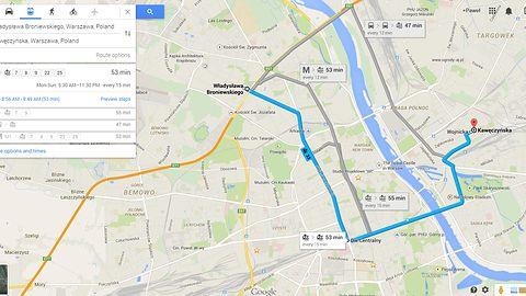 Google Transit dla Warszawy już działa, konkurencja może być spokojna