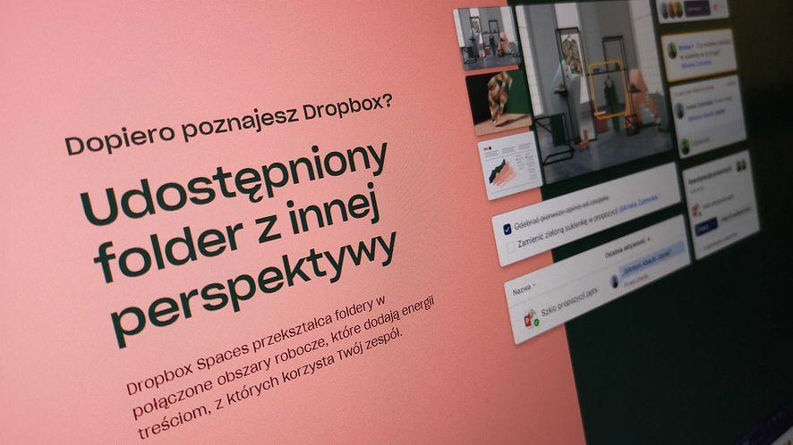 """Dropbox Spaces to udostępnione folder w """"nowym wydaniu"""", fot. Oskar Ziomek"""
