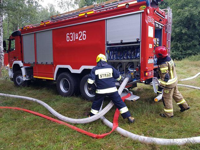 ogień pożar straż pożarna